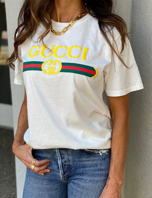 YMB Gucci Unisex Tee in White