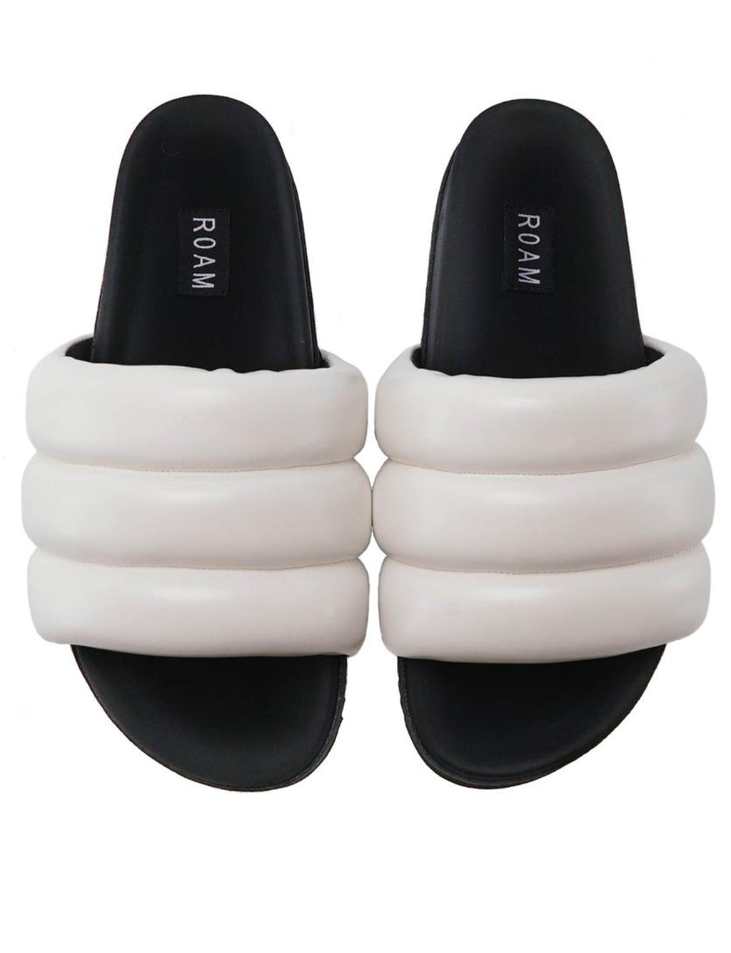 Roam Super Puff Slide in White