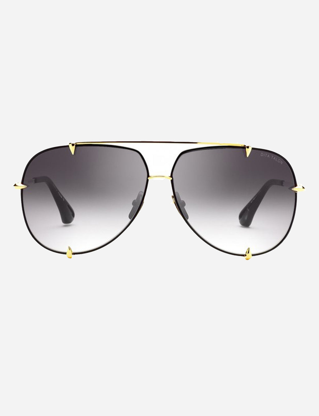 Dita Talon Satin Black-18K Gold with Grey to Clear Lens