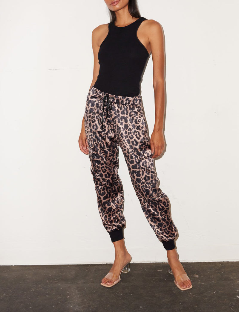Drawstring Pant in Leopard