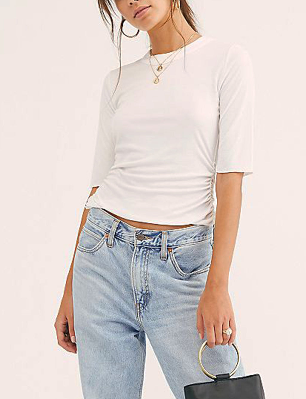 Free People Talk To me Tee in White