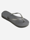 Havaianas Slim Flatform Sandal in Steel Grey