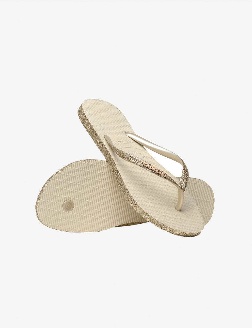 Slim Sparkle Sandal in Beige