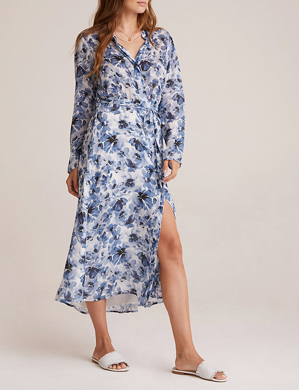 Maxi Shirt Dress in Deep Sea Navy