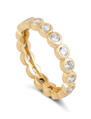 Celeste Eternity Ring in Gold