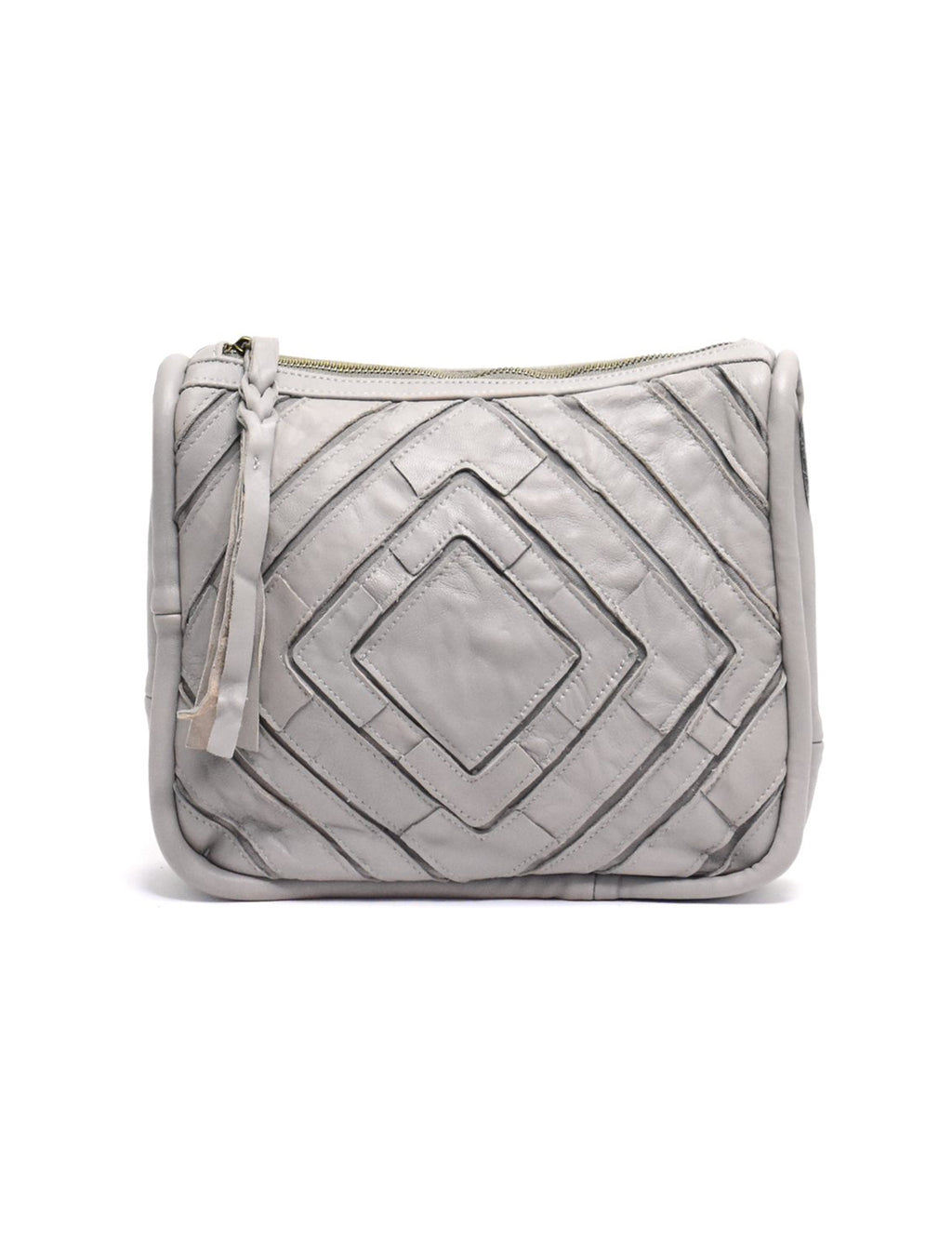 Benecio Patchwork Crossbody in Light Grey