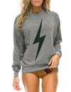 Bolt Crew Sweatshirt in Heather Grey/Black