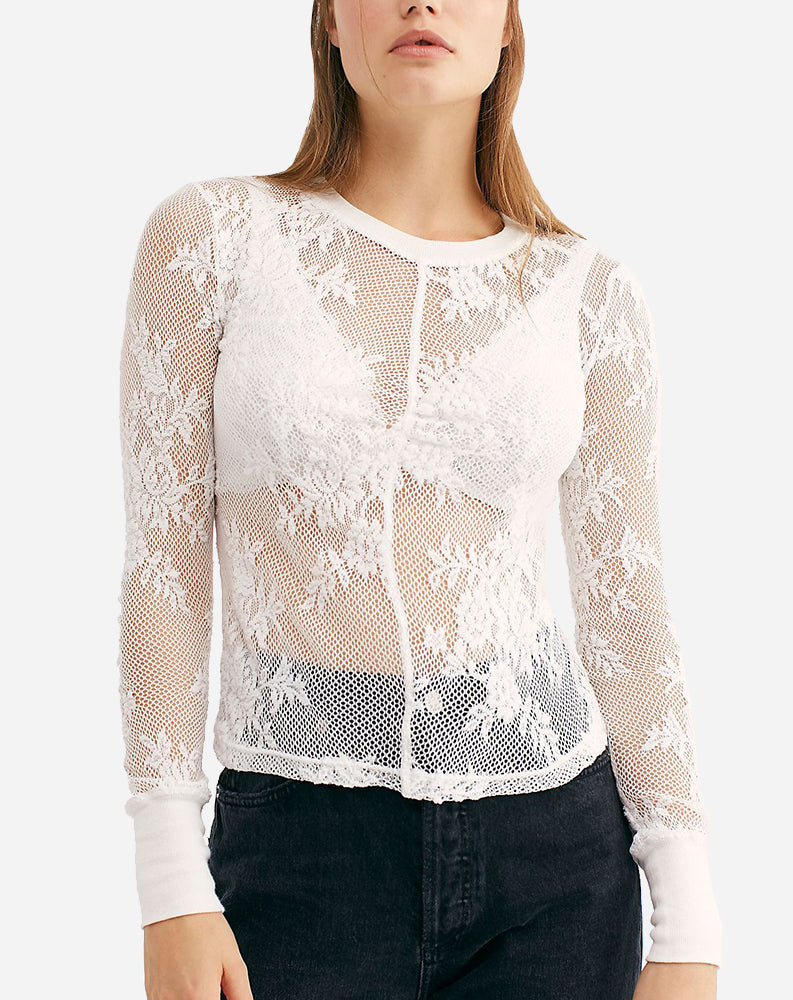 Free People Cool With It Layering Top, White