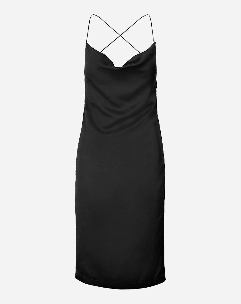 Siren Slip Dress in Black