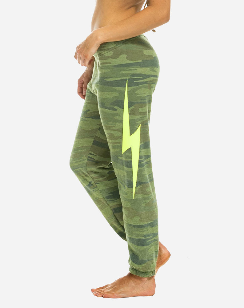 Bolt Stitch Sweatpants in Camo