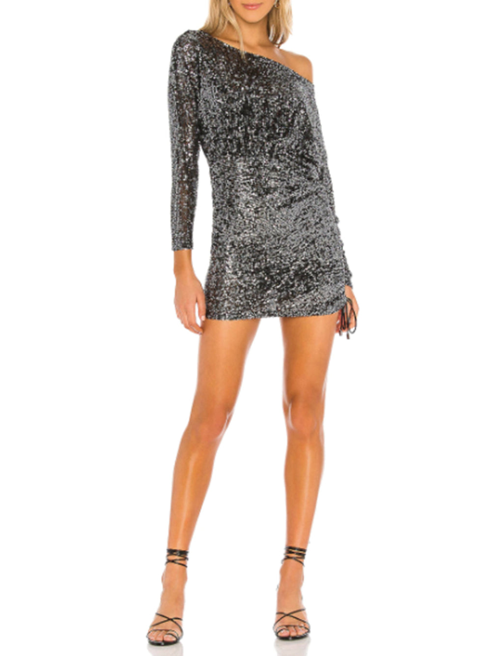 Giselle Mini Dress in Graphite