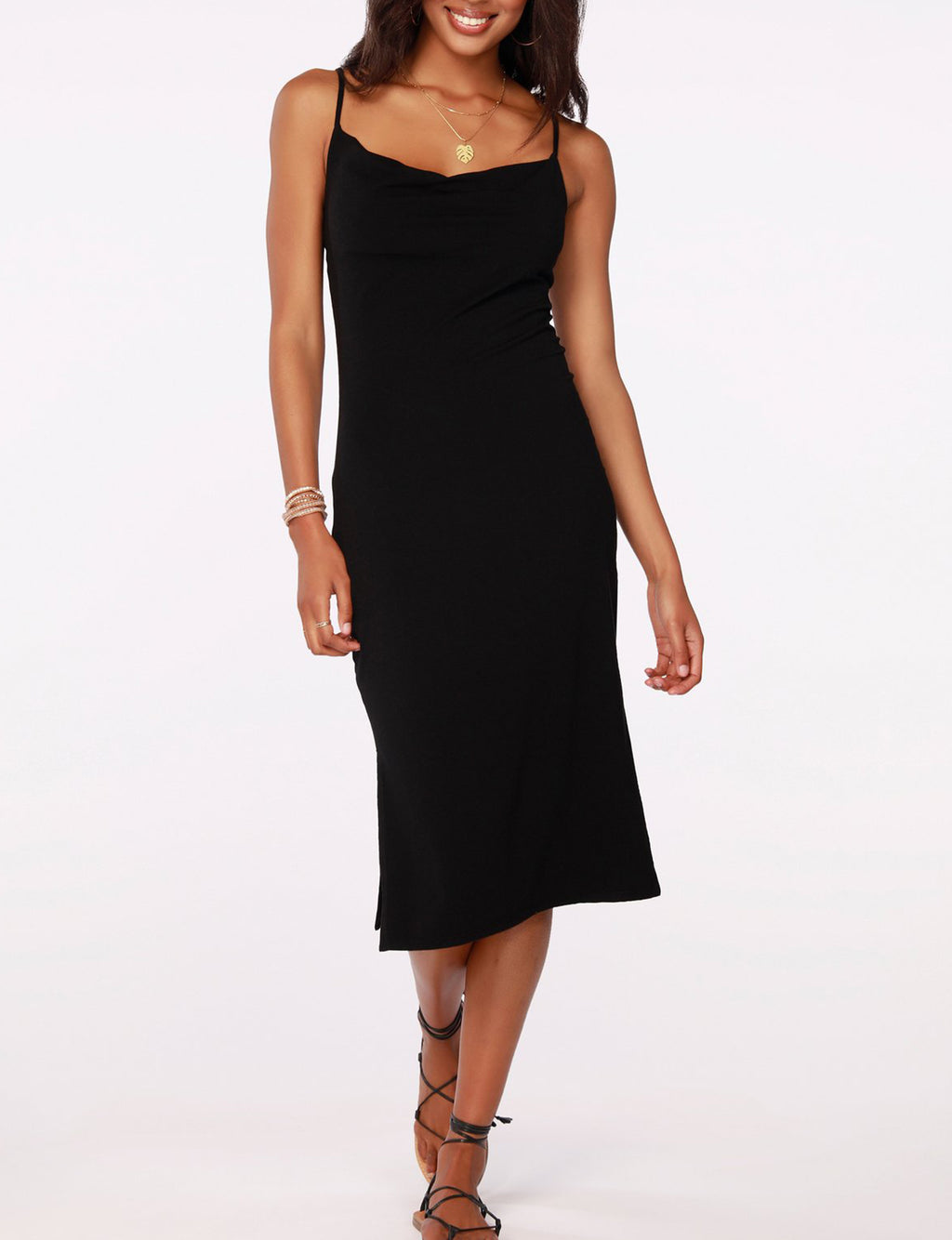 Cowl Neck Dress in Black