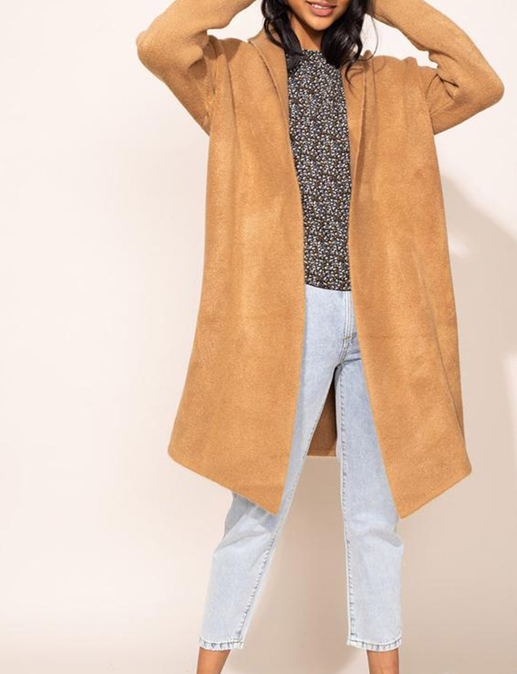 Stockport Sweater Coat in Light Brown
