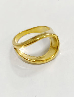 Lydia Ring in 18K Gold Plate over Stainless