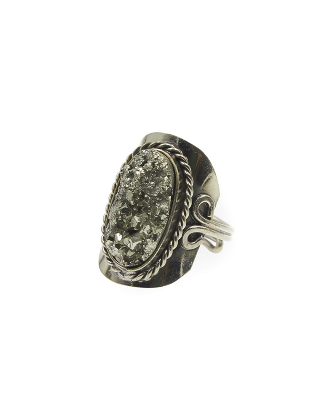 Natalie B Copa Plain Peruvian Ring in Pyrite