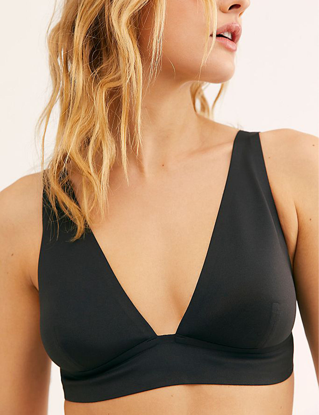 Free People Erin Scuba Bralette in Black