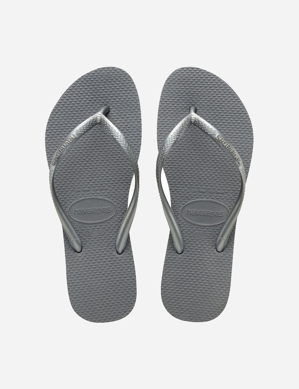 Havaianas Slim Sandal in Steel Grey