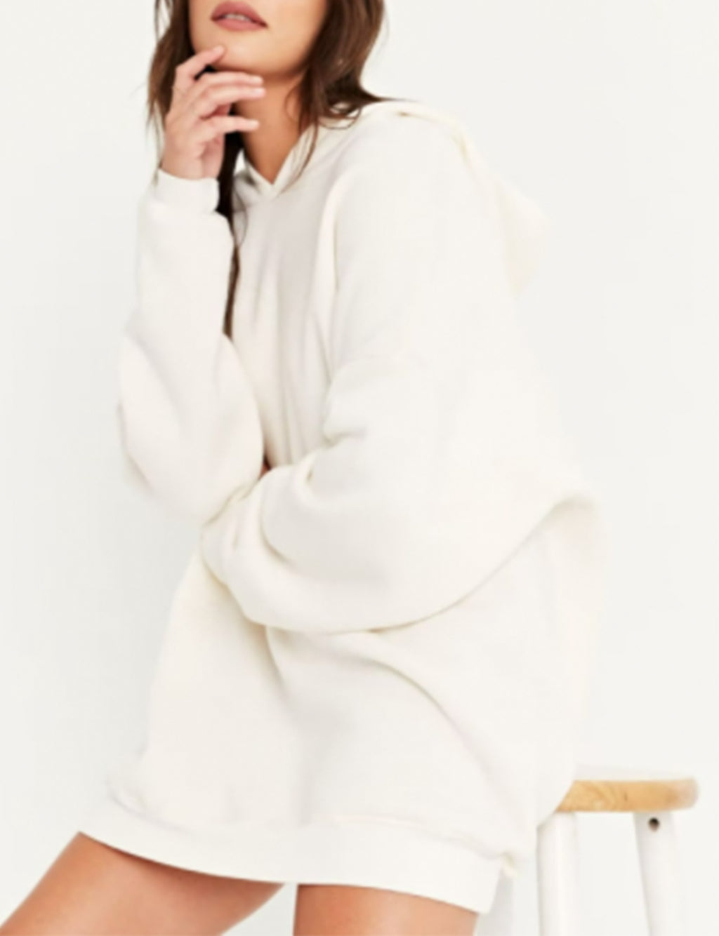 Everything Oversized Hoodie in Cozy Cream