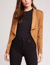 BB Dakota Wade Faux Suede Jacket in Whiskey