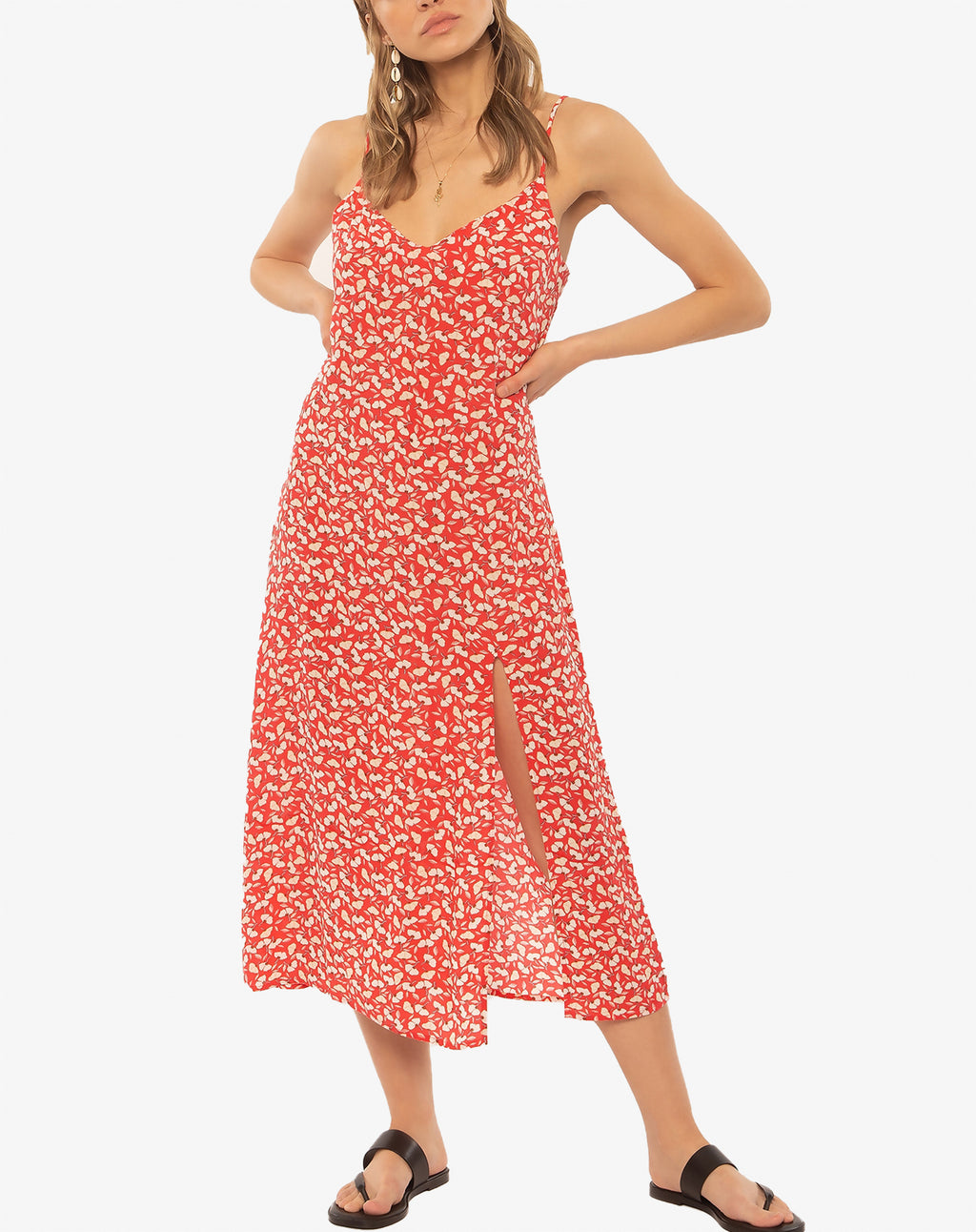 Mai Slip Woven Dress in Spice