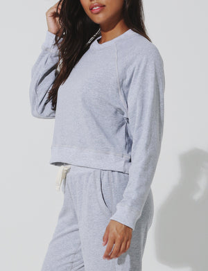 Ronan Cropped Pullover in Heather Grey