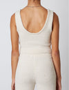 Notched Sweater Tank in Natural