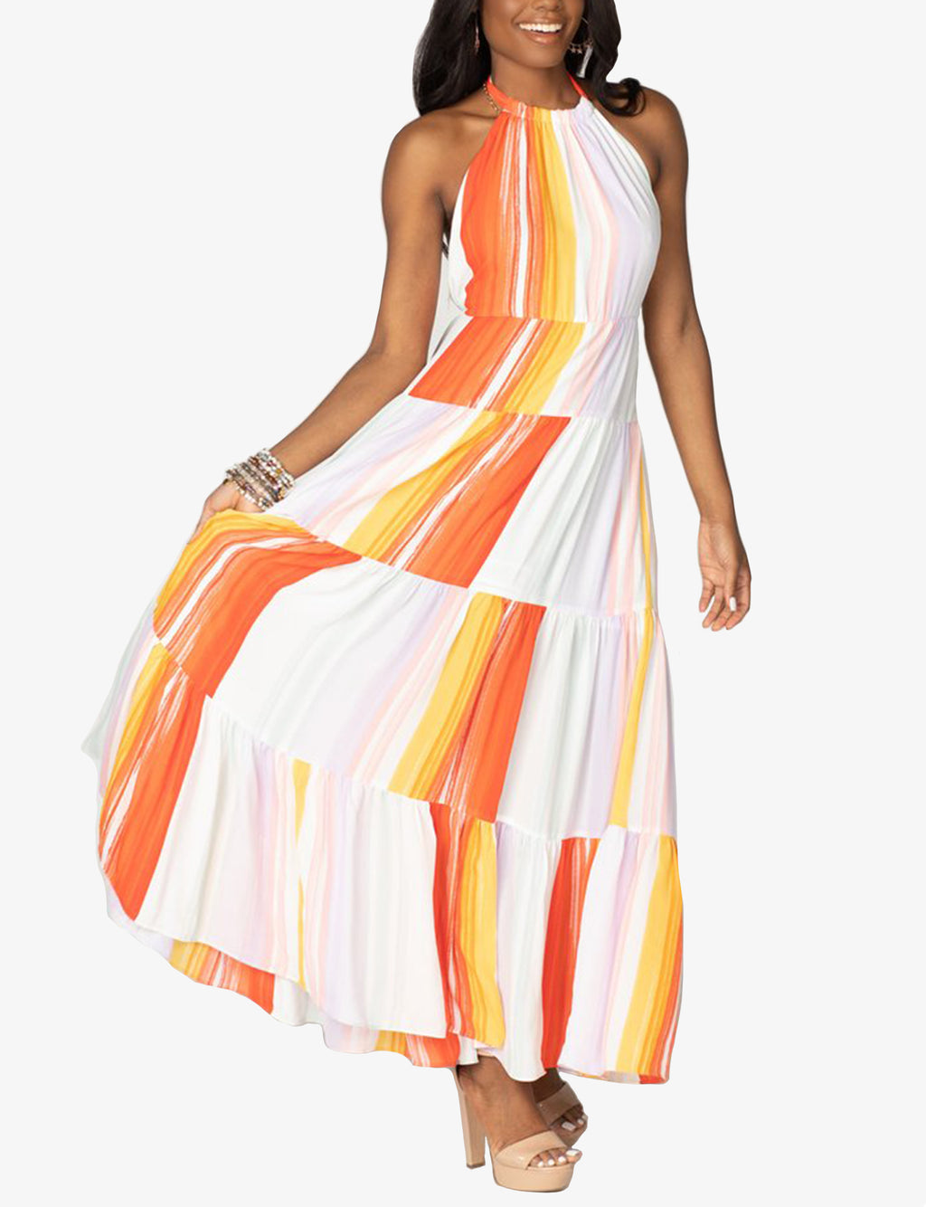 Buddy Love Blake Tiered Maxi in Sorbet