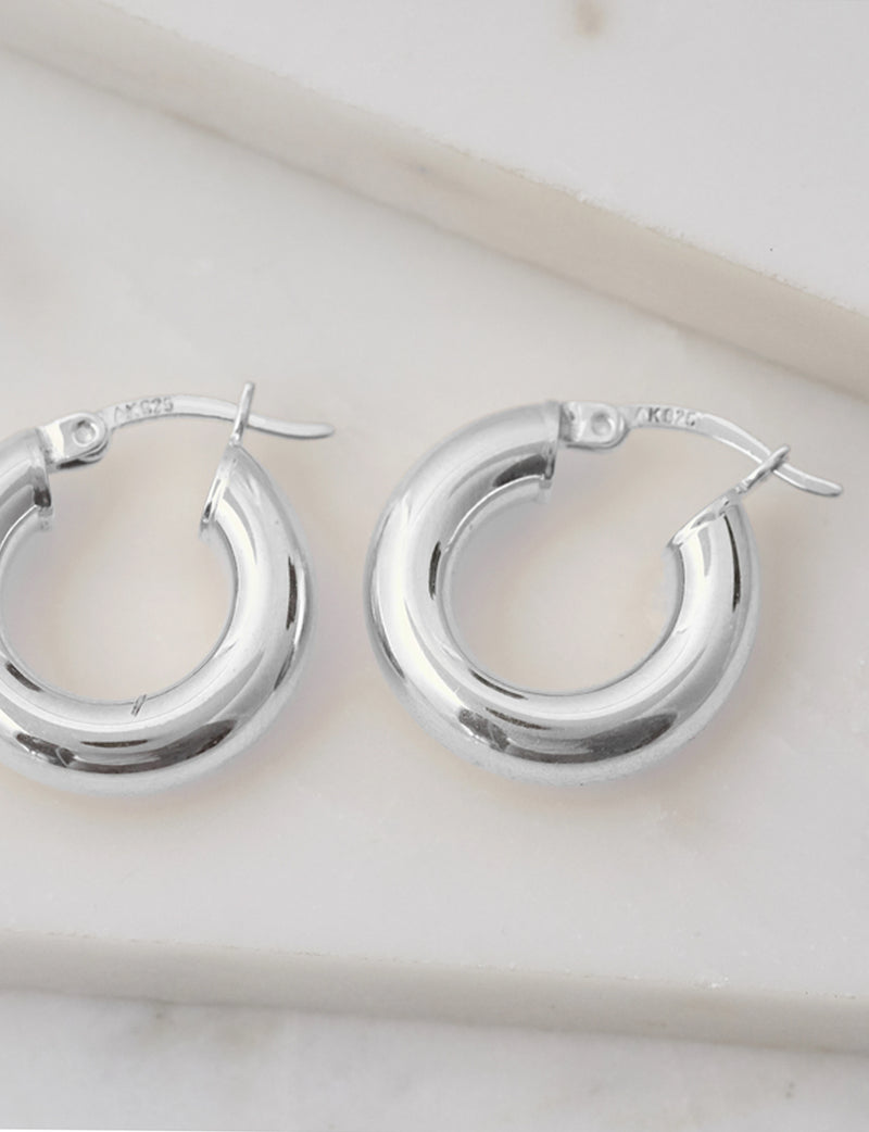 Natalie B Malia Hoops in Sterling Silver
