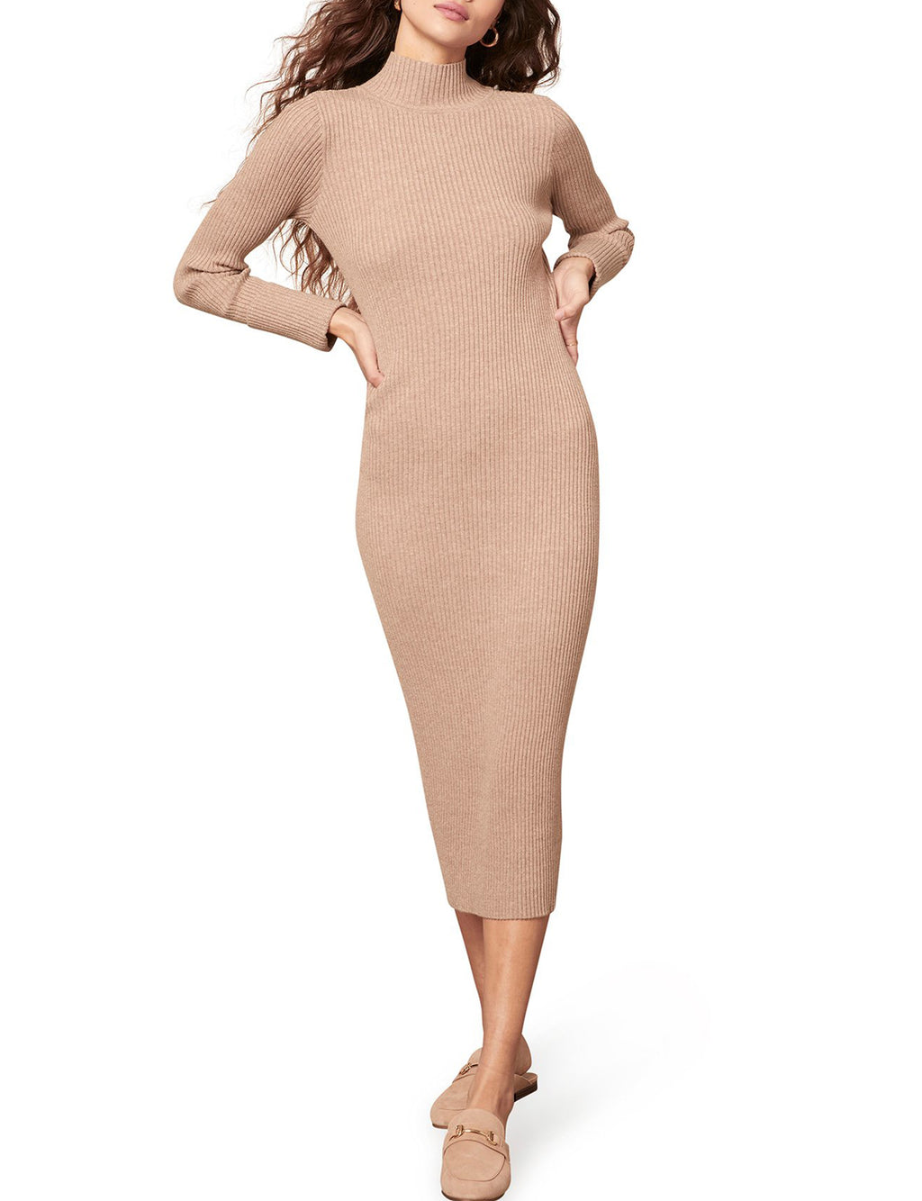 Sweater of Intent Dress in Light Taupe
