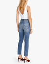 Mother Denim Pixie Dazzler Ankle Fray in Popism