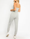 Strapless Jumpsuit in Heather Grey