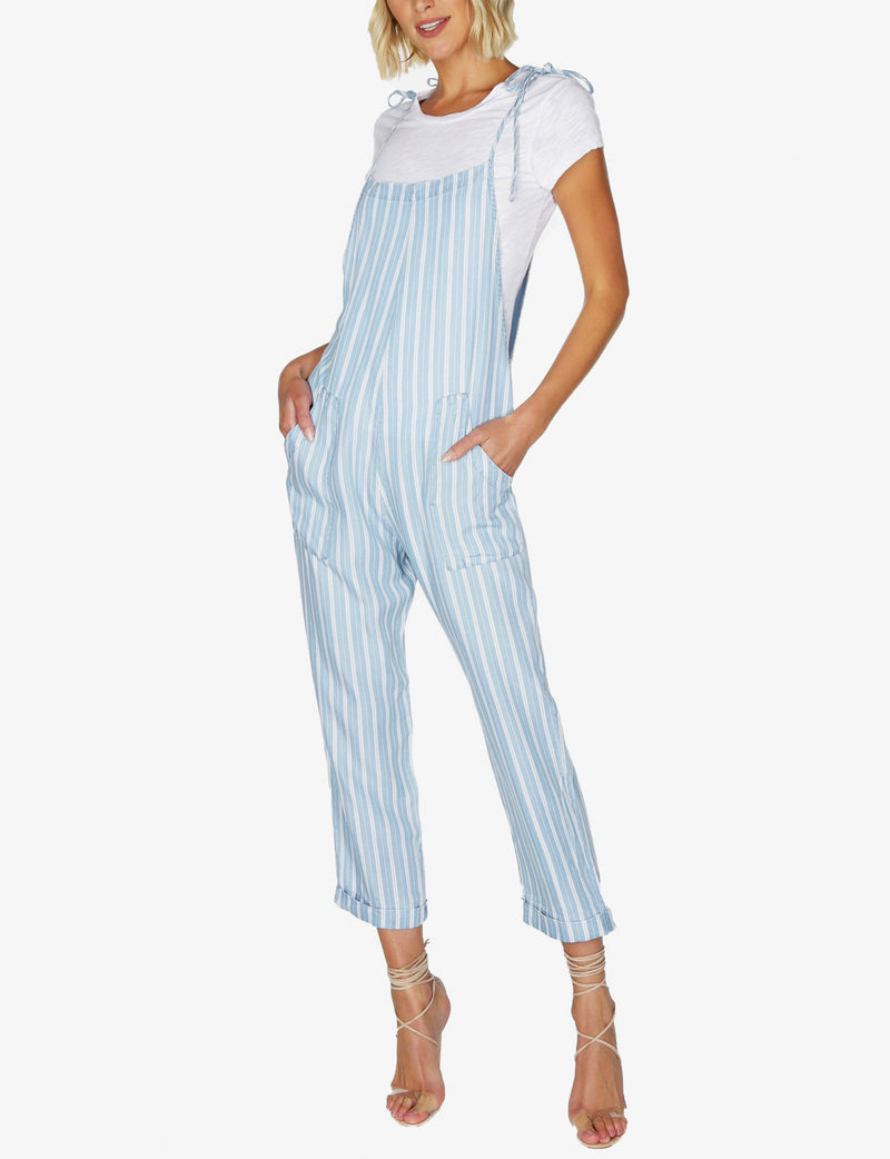 Tie Strap Overall in Blue
