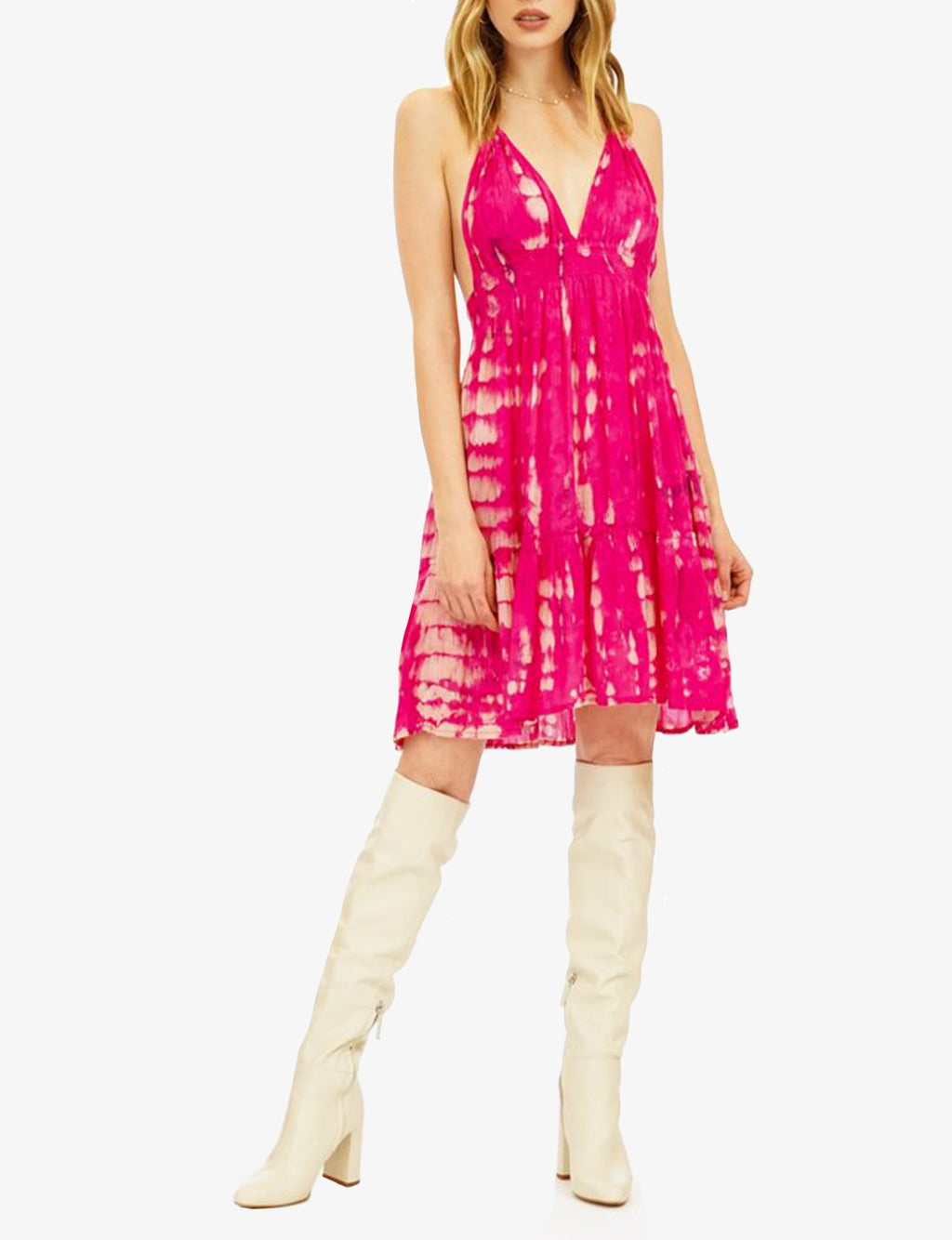 Tiare Hawaii Dawn Dress in Fuchsia Stone