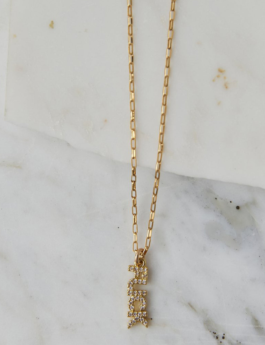 Fuck It CZ Necklace in Gold