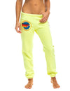 Aviator Nation Womens Sweatpant in Neon Yellow