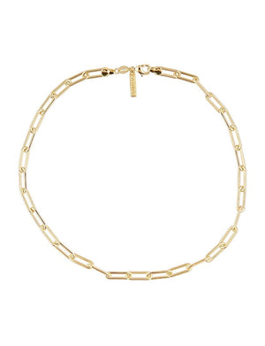 "Carrie Link Necklace 18"" in Gold"