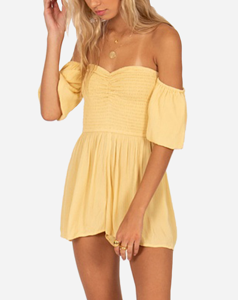 Sunset Surf Mini Romper in Ginger