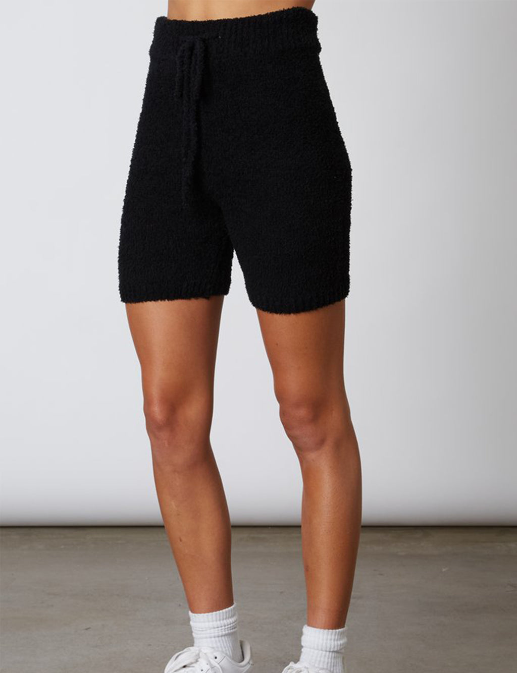 Mid Length Sweater Short in Black