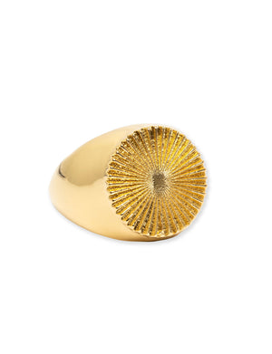 Perry Ring in 18K Gold Plate over Stainless