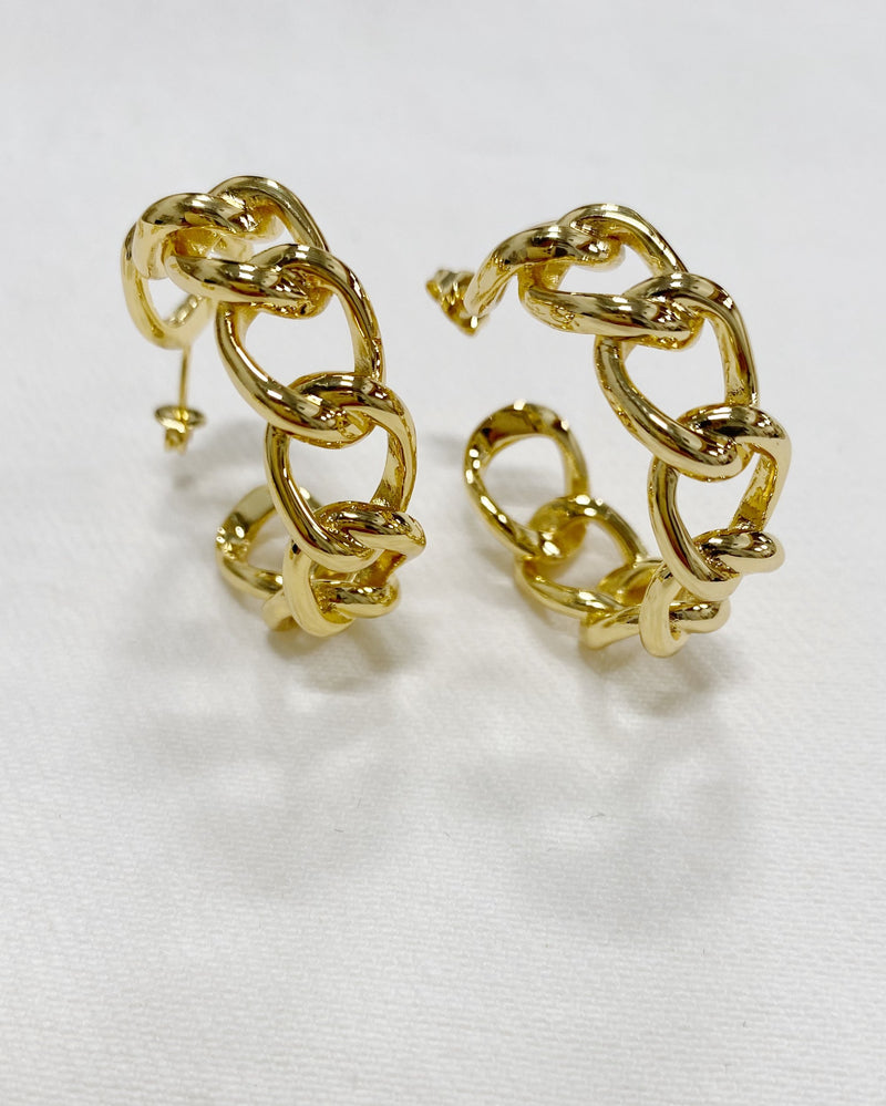 Solitaire Hoops in 14K Gold Filled
