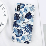 Blue Leaf iPhone Case - Like Buy Love