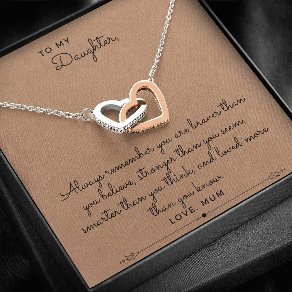 Brave Daughter From Mom Necklace - Like Buy Love