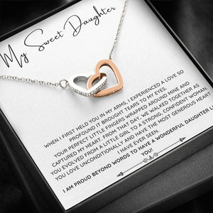 To My Sweet Daughter Necklace