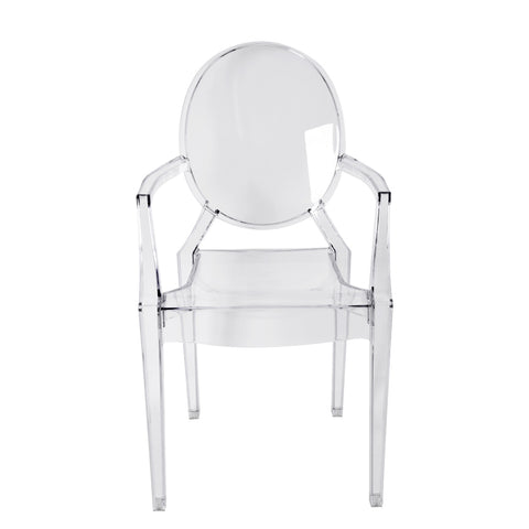 Transparent Ghost Dining Arm Chair