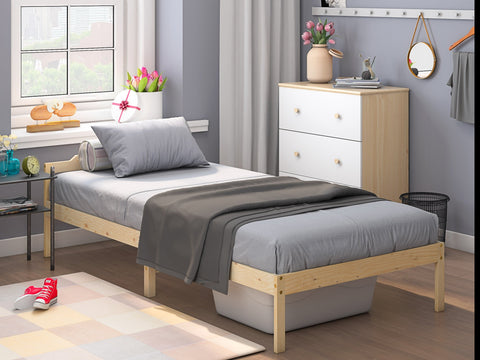 Pine_Solid wood bed