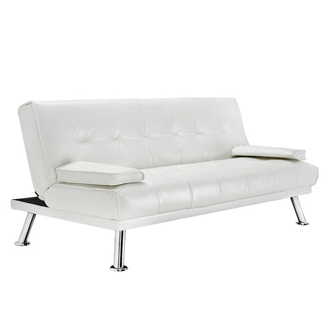 3 Seater Clic Clac Sofa Bed,Faux Leather|More Option Available