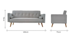 Grey_click clack sofa bed