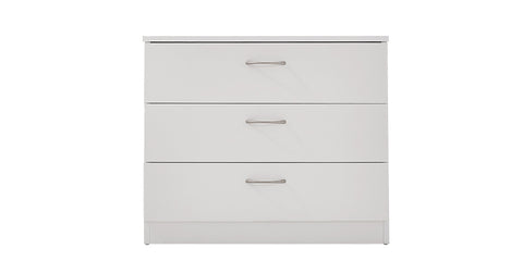 White_3 Drawer Chest