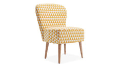 Yellow_Linen Fabric Tub Chair