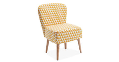 Yellow_Linen fabric chair